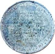 Token - William H. Taft (Big Bill Taft) – reverse