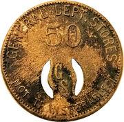 50 Cents - General Dept. Stores – obverse