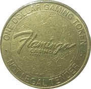 1 Dollar Gaming Token - Flamingo Casino (Kansas City) – reverse