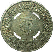 12 ½ Cents Fare - Twin City Motor Bus Co. – obverse
