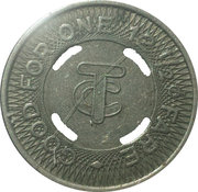 12 ½ Cents Fare - Twin City Motor Bus Co. – reverse