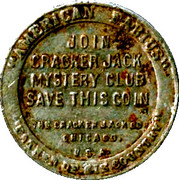 Token - Cracker Jack Mystery Club (1st President George Washington) – reverse