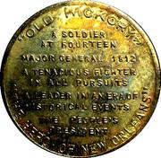 Token - Andrew Jackson (7th President) – reverse