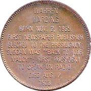 Token - Presidential Hall of Fame (Warren Harding) – reverse