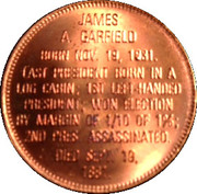 Token - Presidential Hall of Fame (James Garfield) – reverse