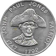 Token - Shell Famous Americans Coin Game (John Paul Jones) – obverse