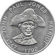 Token - Shell Famous Americans Coin Game (John Paul Jones) – obverse