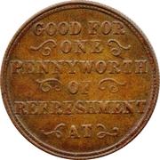 1 Penny - Lockharts Cocoa – reverse