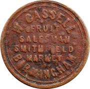 1 Shilling - W. Cassell (Birmingham) – obverse
