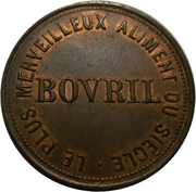 Token - Bovril (Farthing-sized; French type) -  reverse