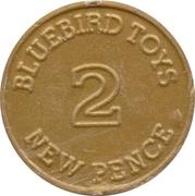 2 New Pence - Bluebird Toys – reverse