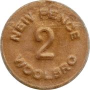 2 New Pence - Woolbro (Princess Susie) – reverse