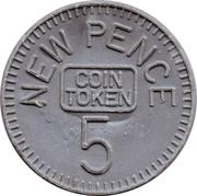 5 New Pence (Decimal Coin Token) – reverse