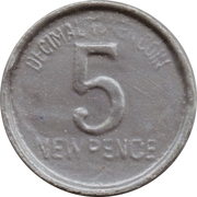 5 New Pence - Toy Town Cash (Decimal Token Coin) – reverse