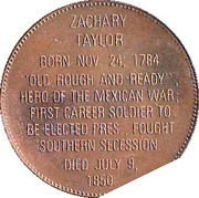 Token - Presidential Hall of Fame (Zachary Taylor) – reverse