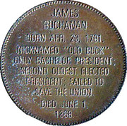 Token - Presidential Hall of Fame (James Buchanan) – reverse