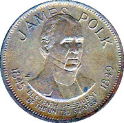 Token - Presidential Hall of Fame (James Knox Polk) – obverse