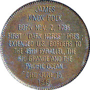 Token - Presidential Hall of Fame (James Knox Polk) – reverse