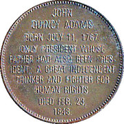 Token - Presidential Hall of Fame (John Quincy Adams) – reverse