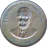 Token - Presidential Hall of Fame (Lyndon B. Johnson) – obverse