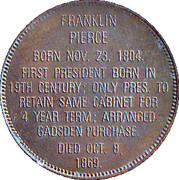 Token - Presidential Hall of Fame (Franklin Pierce) – reverse