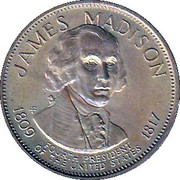 Token - Presidential Hall of Fame (James Madison) – obverse