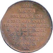 Token - Presidential Hall of Fame (James Madison) – reverse