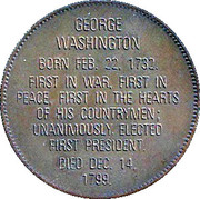 Token - Presidential Hall of Fame (George Washington) – reverse