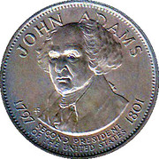 Token - Presidential Hall of Fame (John Adams) – obverse