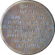 Token - Presidential Hall of Fame (William McKinley) – reverse