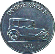Token - Sunoco Antique Car Coin Series 1 (Dodge Sedan) – obverse
