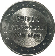 Token - Shell's Mr. President Coin Game (Franklin D. Roosevelt) -  reverse