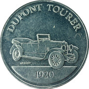 Token - Sunoco Antique Car Coin Series 1 (Dupont Tourer) – obverse