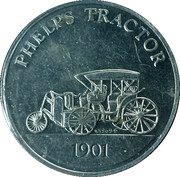 Sunoco Antique Car Coin - Series 2 (Phelps Tractor) – obverse