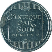 Sunoco Antique Car Coin - Series 2 (Phelps Tractor) – reverse