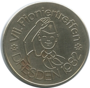 Token - VII Pioniertreffen (Dresden 1982) – obverse