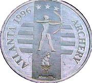 Token - Atlanta 1996 US Olympic Team, General Mills Sponsor (Archery) – obverse
