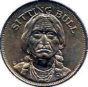 Husky Oil Token - Rugged Americans (Sitting Bull) – obverse