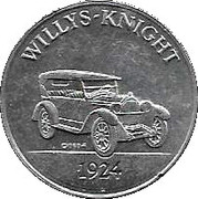 Sunoco Antique Car Coin - Series 2 (Willys-Knight) – obverse