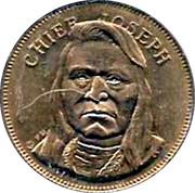 Husky Oil Token - Rugged Americans (Chief Joseph) – obverse