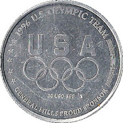 Token - Atlanta 1996 US Olympic Team, General Mills Sponsor (Athletics) – reverse