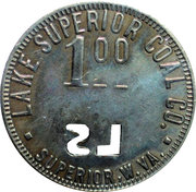 1 Dollar - Lake Superior Coal Company (Superior, W. VA.) – obverse