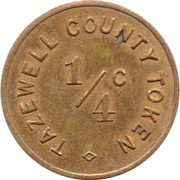 ¼ Cent - Tazewell Couny (Illinois) – obverse