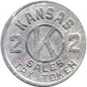 2 Mills - Sales Tax Token (Kansas) – reverse