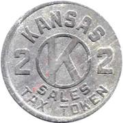 2 Mills - Sales Tax Token (Kansas) -  reverse