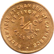 ¼ Cent - Effingham (Illinois) – obverse