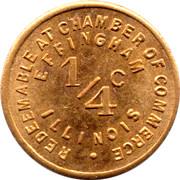 ¼ Cent - Effingham (Illinois) – reverse
