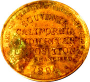 So-Called Dollar - California Midwinter Exposition (San Francisco) – reverse
