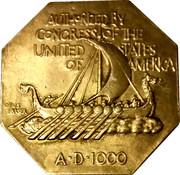 Medal - Norse-American Centennial – reverse