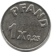 Supermarket deposit token - Norma (Pfand 1x0.25) – reverse